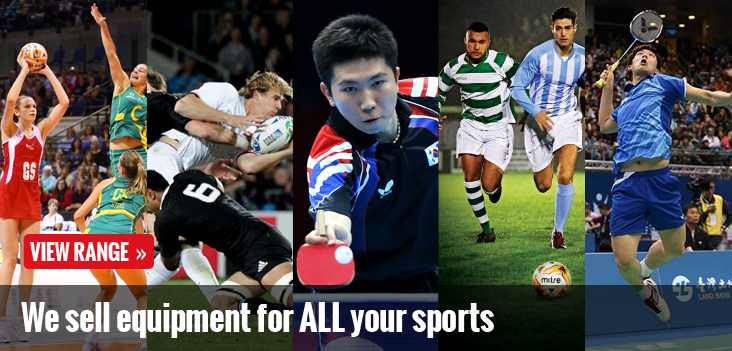 We sell equipment for ALL your sports